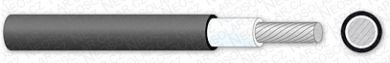 Solární kabel SOL 10.0 mm2 černý Jednožilový kabel solární
